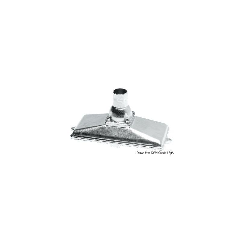 Succhiarola in acciaio inox AISI 316 complete di valvola di fondo e di reticella di filtraggio