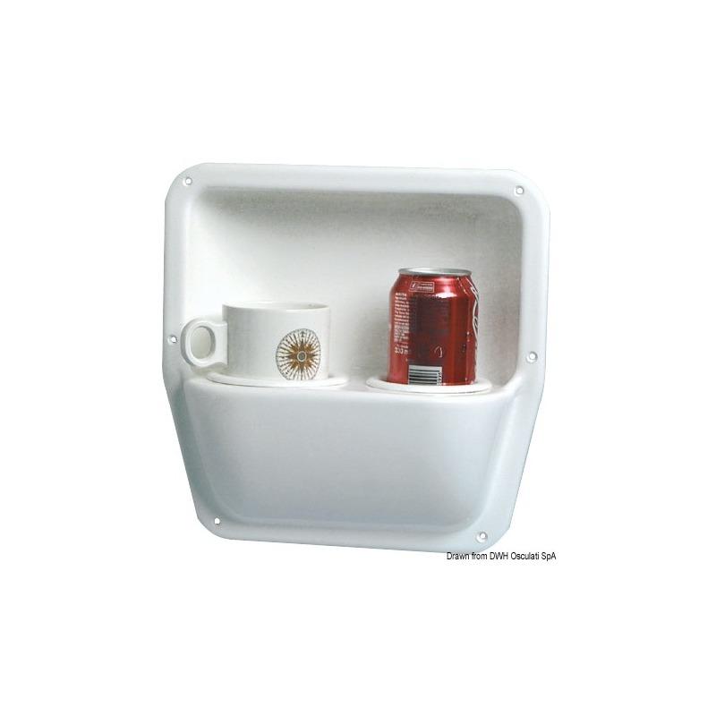 Cassonetto laterale portabicchieri/tazze/bottiglie