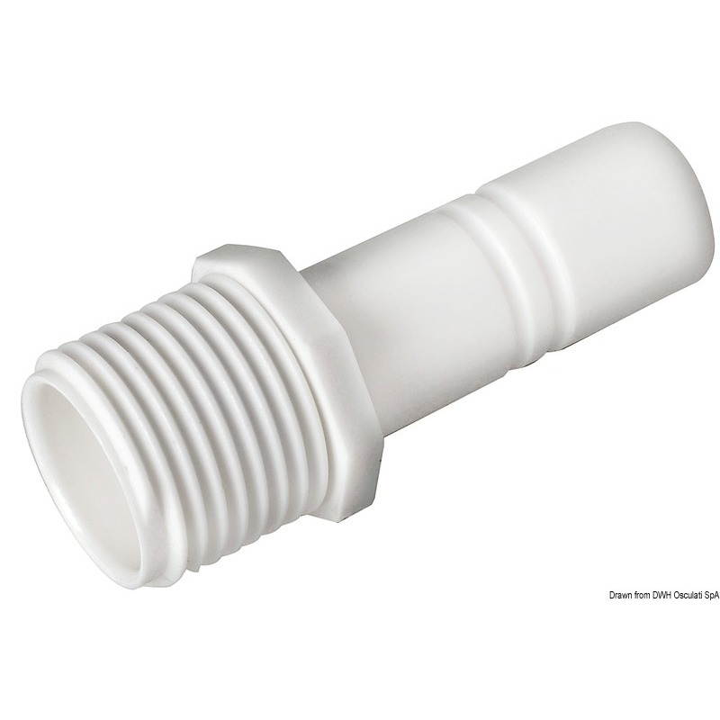 Raccordo cilindrico + maschio 1/2 BSP WHALE