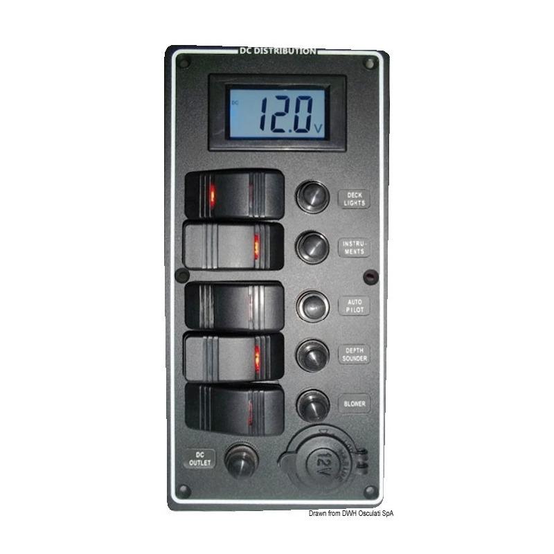 Pannello elettrico serie PCAL con voltometro digitale 9/32 V