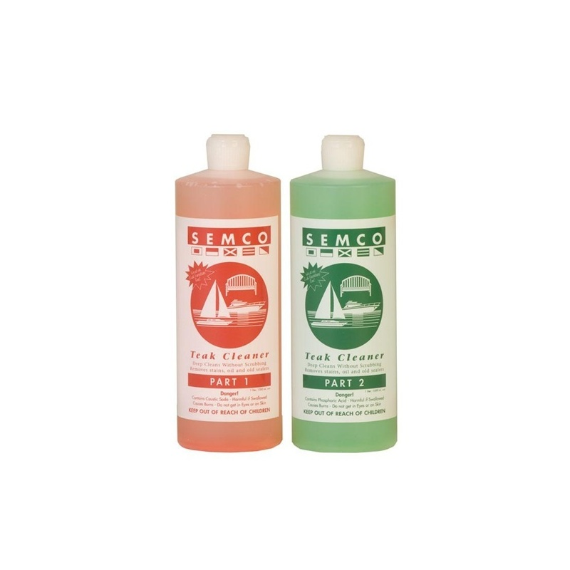 Semco Teak Cleaner Set of 2 Part  1lt + 1lt