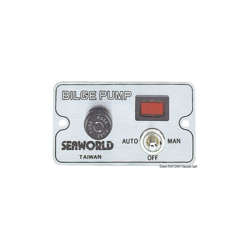 Manual panel switch for electric bilge pumps