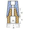 Ogiva conica per elica con ottone conico standard. Asse 25 mm - Foto 1